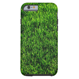Green grass texture from a soccer field tough iPhone 6 case
