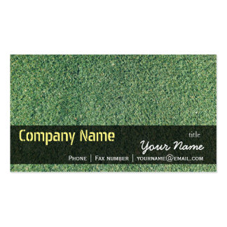 Green Grass Texture Nature Business Card Templates