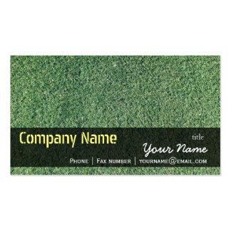Green Grass Texture Nature Business Card Templates