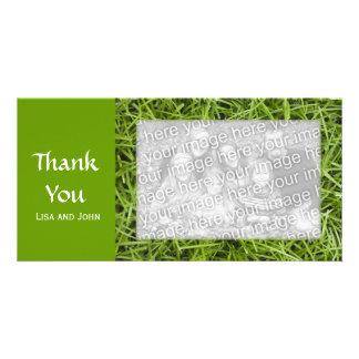 Green Grass Thank You Photo Card