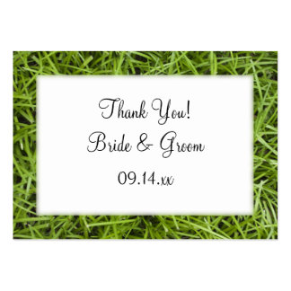 Green Grass Wedding Favor Tags Pack Of Chubby Business Cards