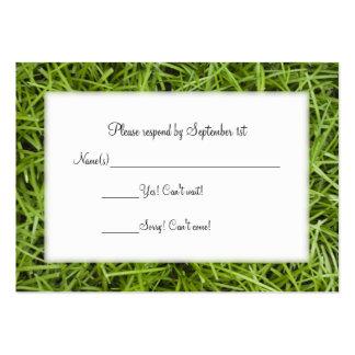 Green Grass Wedding Response Card Business Card Templates