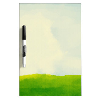 green grass with sunny day Dry Erase Board