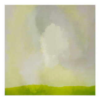 green grass with sunny day Poster