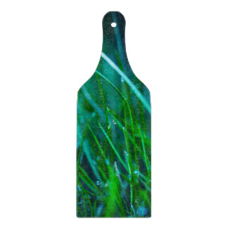 Green Grass With Water Drops For Spring Background Cutting Board