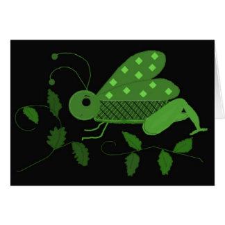 Green Grasshopper Card
