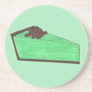 Green Grasshopper Mint Pie Slice Foodie Baking Coaster