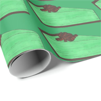Green Grasshopper Pie Foodie St Patrick's Day Wrap Wrapping Paper