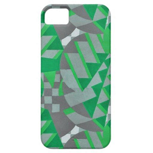 Green / gray 1920s Deco design iPhone 5/5S Cover