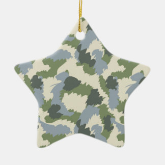 Green Gray Brown Camouflage Christmas Ornament