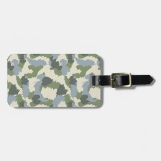 Green Gray Brown Camouflage Luggage Tag