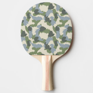 Green Gray Brown Camouflage Ping Pong Paddle