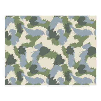 Green Gray Brown Camouflage Postcard