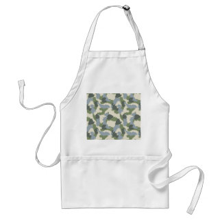 Green Gray Brown Camouflage Standard Apron