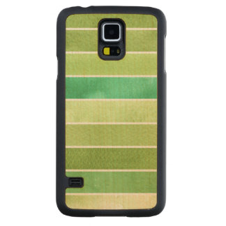 green great watercolor background - watercolor carved maple galaxy s5 case