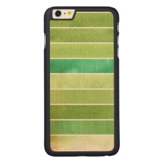 green great watercolor background - watercolor carved maple iPhone 6 plus case
