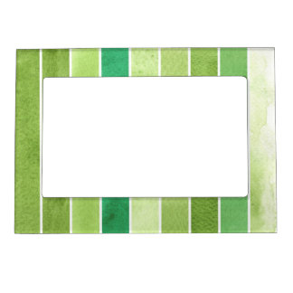 green great watercolor background - watercolor magnetic frame