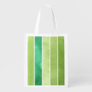 green great watercolor background - watercolor reusable grocery bag