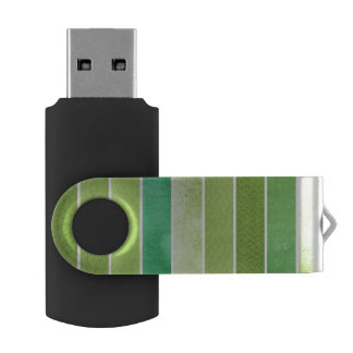 green great watercolor background - watercolor USB flash drive