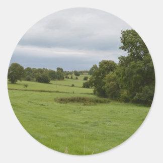 Green Green Grass Classic Round Sticker