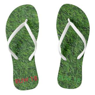 Green Green Grass or home flip-flops Flip Flops