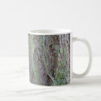 Green & grey bark mug
