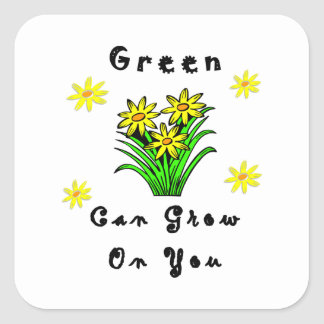 Green Grows On You Stickers