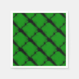 Green Grunge Background Disposable Serviettes
