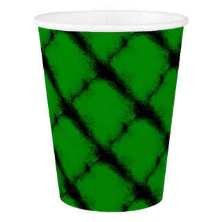 Green Grunge Background Paper Cup