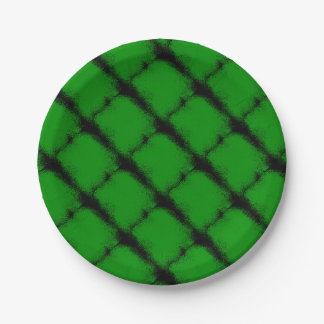 Green Grunge Background Paper Plate