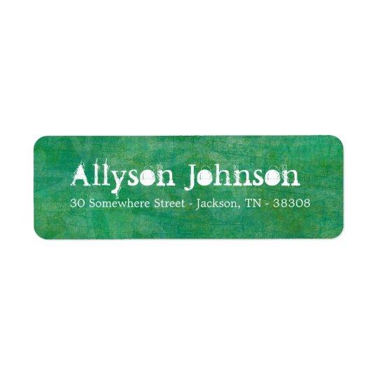Green Grunge Background Return Address Labels