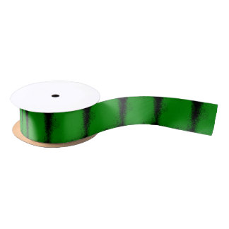 Green Grunge Background Satin Ribbon