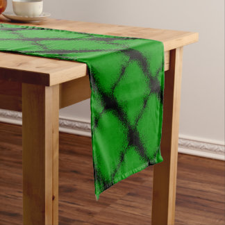 Green Grunge Background Short Table Runner