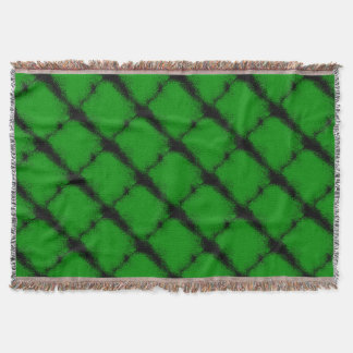 Green Grunge Background Throw Blanket