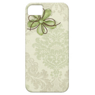 Green Grunge Damask Case for iPhone 5 Barely There iPhone 5 Case