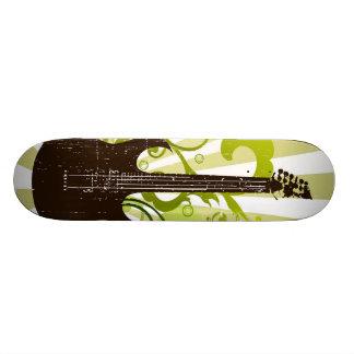 Green Grunge Guitar Custom Skate Board