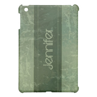 Green Grunge Marble Distressed  iPad Mini Cases