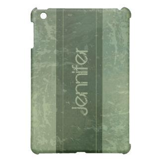 Green Grunge Marble Distressed  iPad Mini Cases