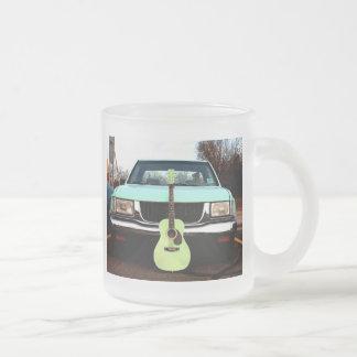 Green Guitar & Car Mug