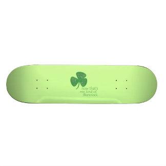 Green Guitar Pick Shamrock Skate Board