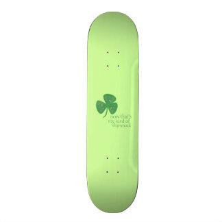 Green Guitar Pick Shamrock Custom Skate Board