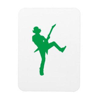 Green Guitar Player Silhouette Flexible Magnet