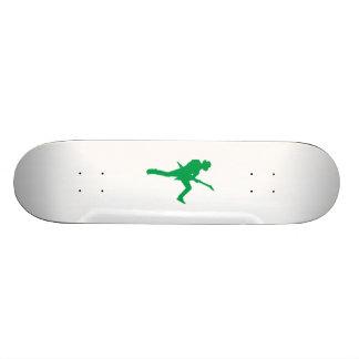 Green Guitar Player Silhouette Skate Board Decks