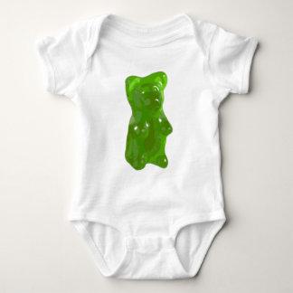 Green Gummy Bear Candy Baby Bodysuit
