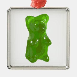 Green Gummy Bear Candy Christmas Ornament