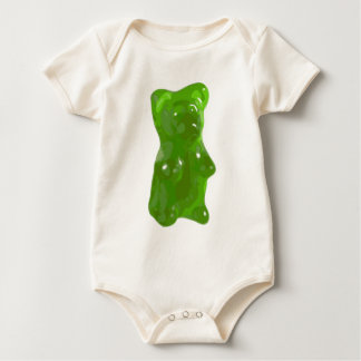 Green Gummy Bear Candy Rompers