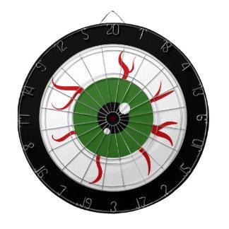 Green Halloween Eyeball Dart Boards