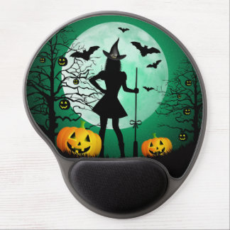Green Halloween Gel Mouse Pad