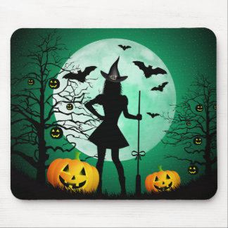 Green Halloween Mouse Pad