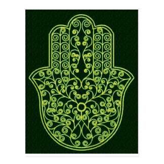 Green*Hamsa Postcard